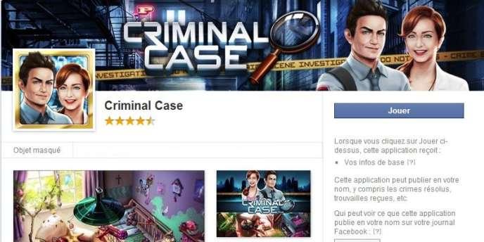 Le jeu d'investigation Criminal Case, développé par le studio français Pretty Simple.