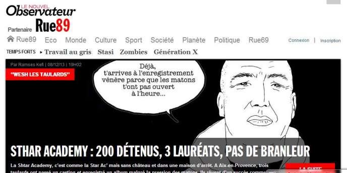 Jugeant que ces changements « détruisent l'identité du site », les journalistes de Rue89 avaient protesté publiquement vendredi contre ce nouveau design : le logo du « Nouvel Observateur » en haut de page, suivi de la simple mention « Partenaire Rue89 ».