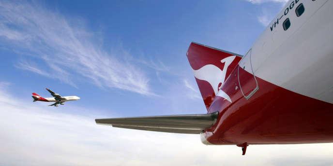 Un boeing 747 de la Qantas.