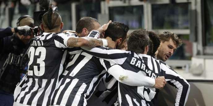 Les joueurs de la Juventus Turin, le 1er décembre face à Udinese.