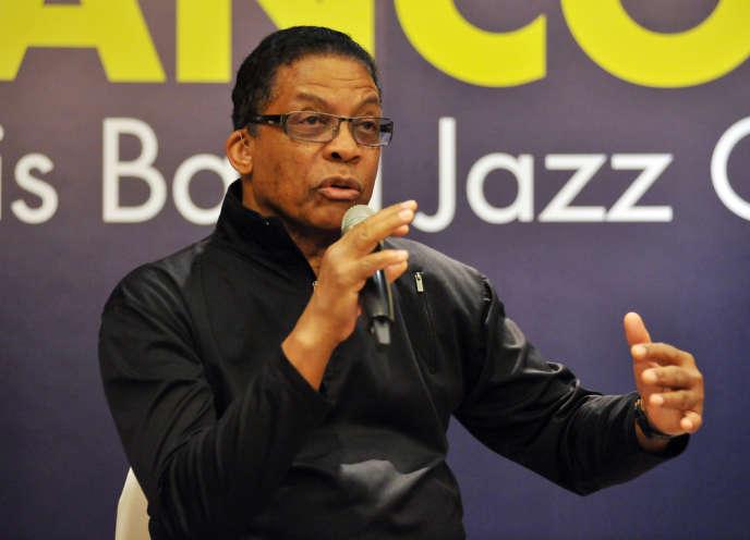 Le musicien de jazz Herbie Hancock lors d'une conférence de presse à Taipeï, le 13 novembre 2013.