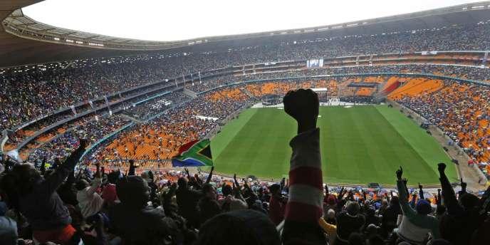 Le stade de Soccer City, à Johannesburg, durant l'hommage à Nelson Mandela le 10 décembre.