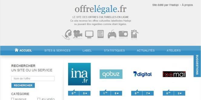 Le site est censé recenser toute l'offre légale française, notée et commentée par les internautes.