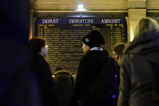 Gare du Nord à Paris mercredi 11 décembre.