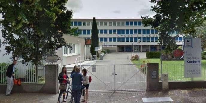 Vue du lycée Koeberlé de Sélestat (Bas-Rhin).