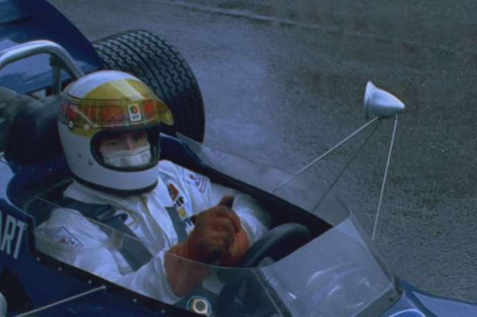 Jackie Stewart, à bord de sa Tyrrell, qui lui a permis de remporter le Grand Prix de Monaco en 1971.