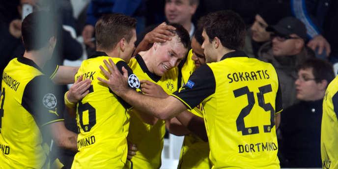 L'équipe de Dortmund, le 11 décembre à Marseille.