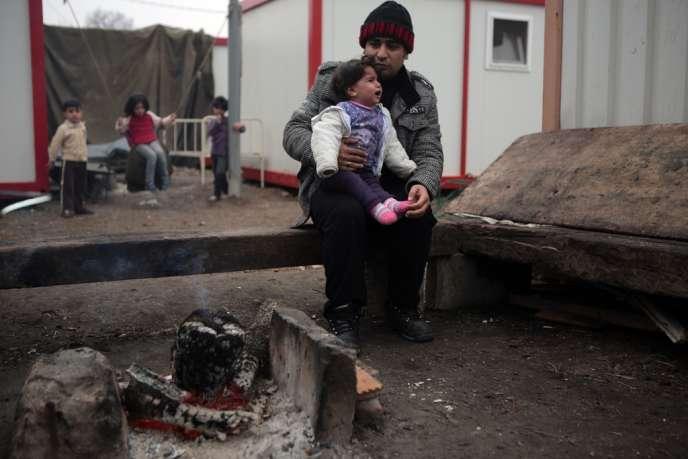 Dans un camp de réfugiés syriens à Harmanli, en Bulgarie, à la fin de novembre.