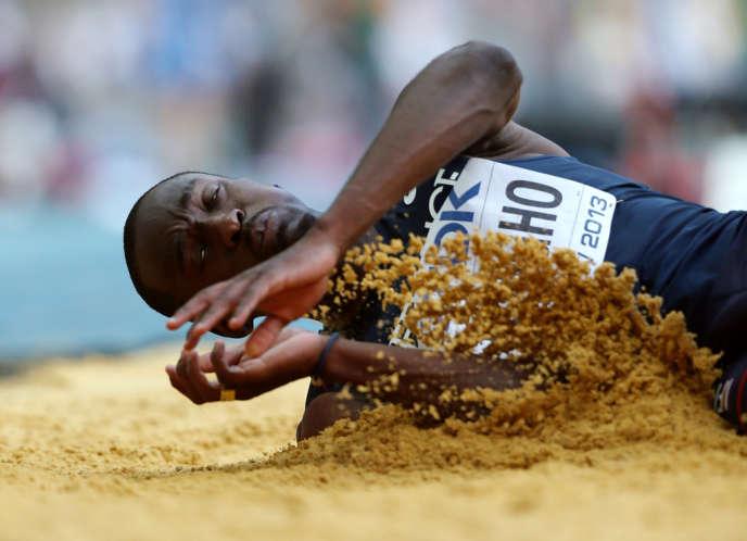 Le champion du monde français de triple saut Teddy Tamgho a annoncé sur Twitter s'être rompu le talon d'Achille.