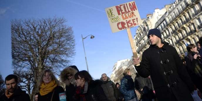 Manifestation contre la réforme des classes préparatoires, à Paris, le 5 décembre.