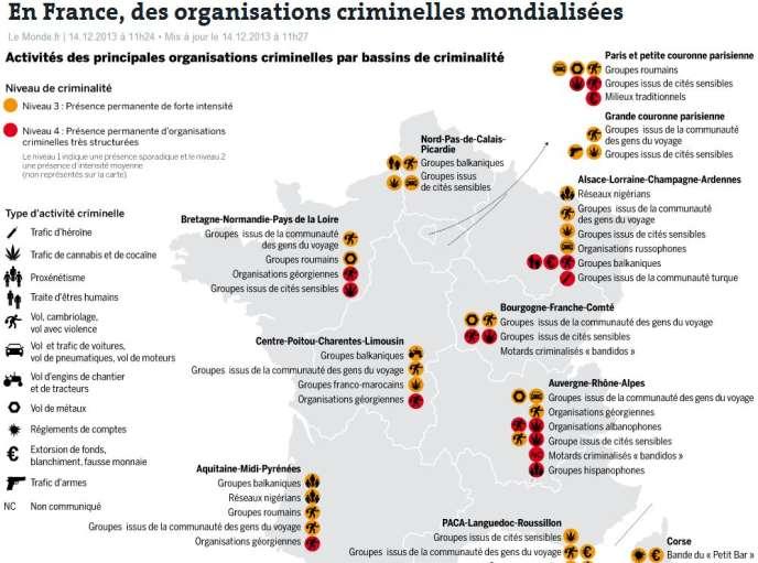 Un rapport de la police judiciaire dévoile la montée en puissance des gangs des cités et d'Europe de l'Est, en relations étroites avec l'étranger.