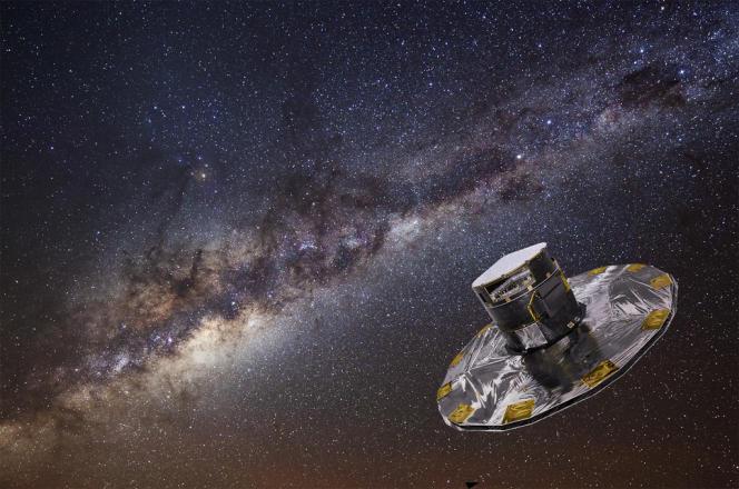Vue d'artiste du satellite Gaia une fois déployé.