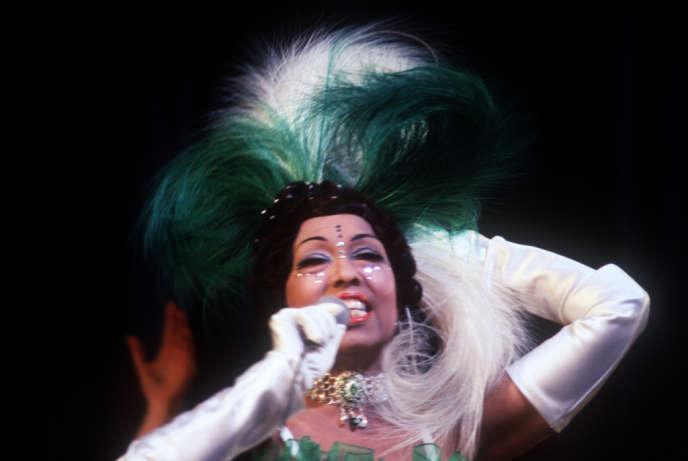 Joséphine Baker, la Vénus noire, en 1968 à l'Olympia.
