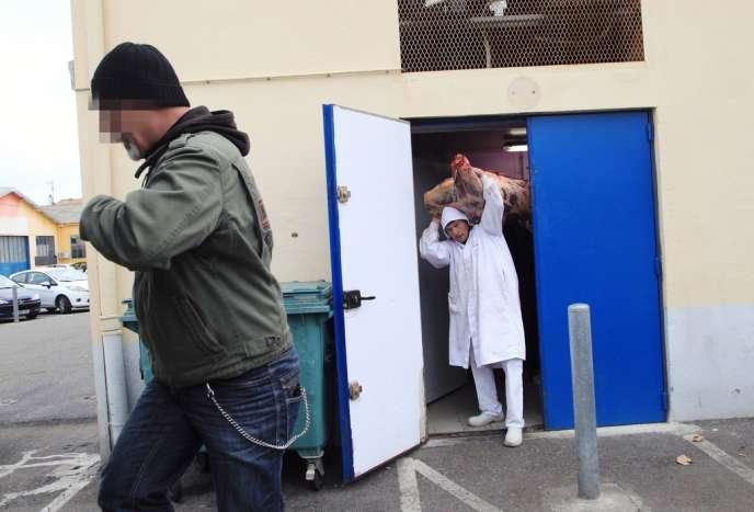 Perquisition dans un dépôt de viande à Narbonne, le 16 décembre.