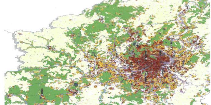 Edition 2012 du mode d'occupation des sols (MOS) franciliens publié par l'Institut d'aménagement et d'urbanisme d'Île de France.