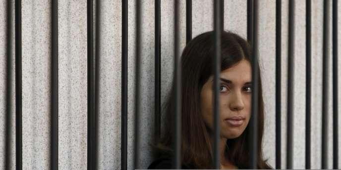 Une des deux membres du groupe punk russe Pussy Riot emprisonnées, Nadezhda Tolokonnikova.