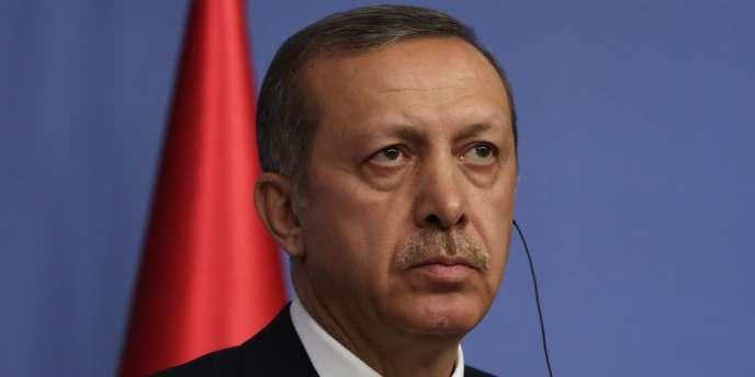 Le premier ministre turc, Recep Tayyip Erdoogan, a tenu une conférence de presse à Ankara, mercredi 18 décembre.