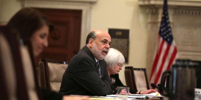 Le président de la Fed, Ben Bernanke, et Janet Yellen, qui lui succédera à la tête de l'institution le 31 janvier.