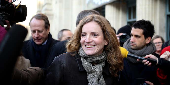 La candidate à la mairie de Paris Nathalie Kosciusko-Morizet en campagne le 12 décembre.
