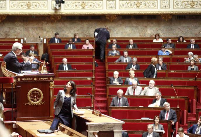 Claude Bartolone, le président de l'Assemblée nationale, et Cécile Duflot, la ministre du logement.