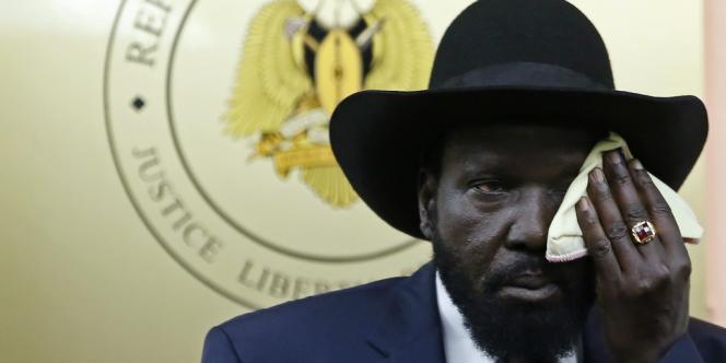 Le président du Sud-Soudan, Salva Kiir, à Juba le 18 décembre.