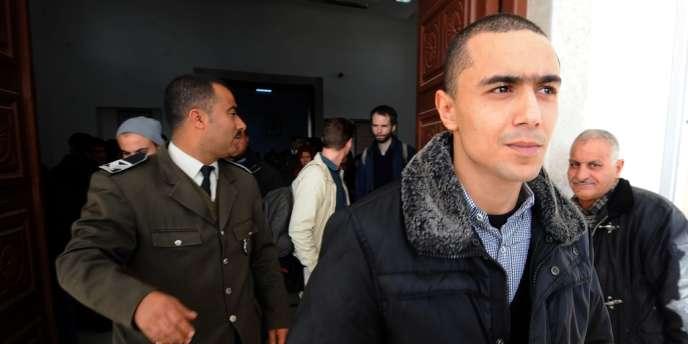 Le rappeur Weld El 15 le jour de sa condamnation en première instance le 5 décembre. Il a été relaxé le 19.