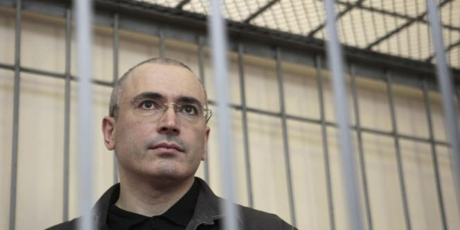 Mikhaïl Khodorkovski lors d'une audience en août 2008.