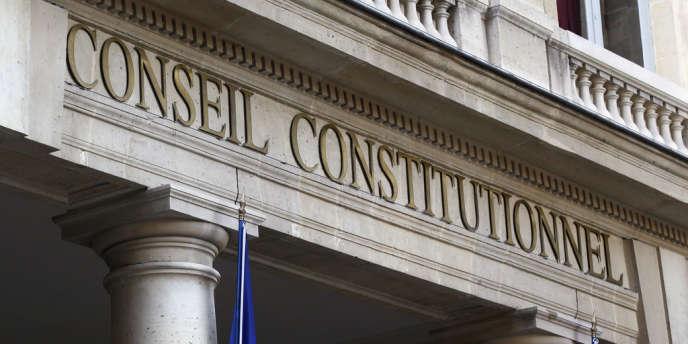 La façade du Conseil constitutionnel.
