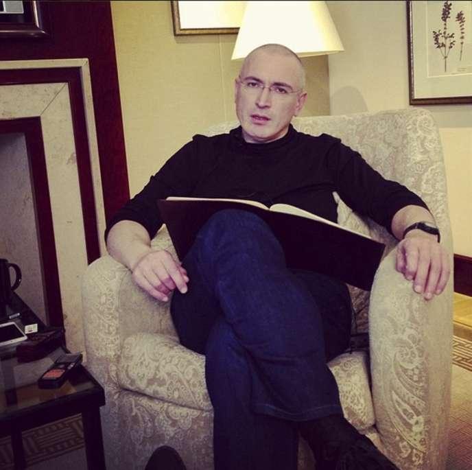 Photo de Mikhaïl Khodorkovski diffusée le 21 décembre 2013 par  Evguenia Albats, la rédactrice en chef du