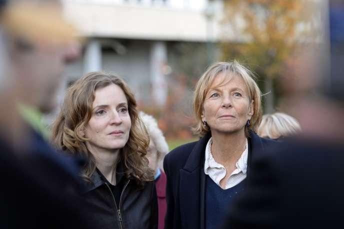 Nathalie Kosciusko-Morizet et Marielle de Sarnez à Paris, le 6 décembre 2013.