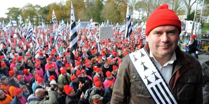 Christian Troadec, maire divers gauche de Carhaix (Finistère) et leader des «bonnets rouges», le 30 novembre.