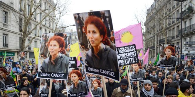 Manifestation à Paris, le 12 janvier dernier, après l'assassinat de trois militantes kurdes à Paris.