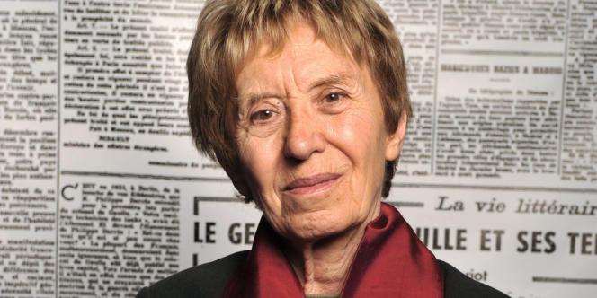 L'historienne et auteure Michelle Perrot, lauréate du prix Simone-de-Beauvoir 2014, qui lui sera décerné le 14 janvier à Paris.