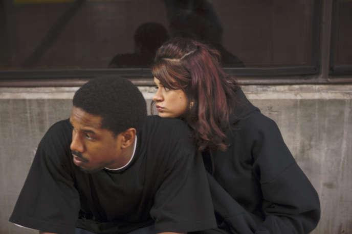 Michael B. Jordan et Melonie Diaz dans le film américain de Ryan Coogler,