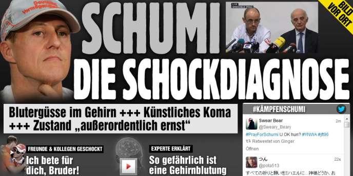 Capture d'écran de la page d'accueil du site allemande Bild.de, le 30 décembre.