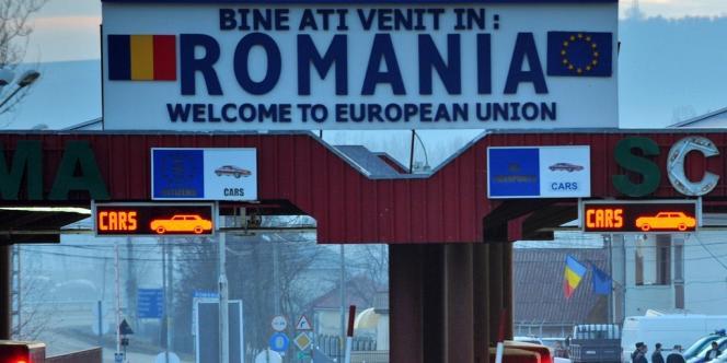Un poste-frontière entre la Roumanie et la Moldavie, en 2011.