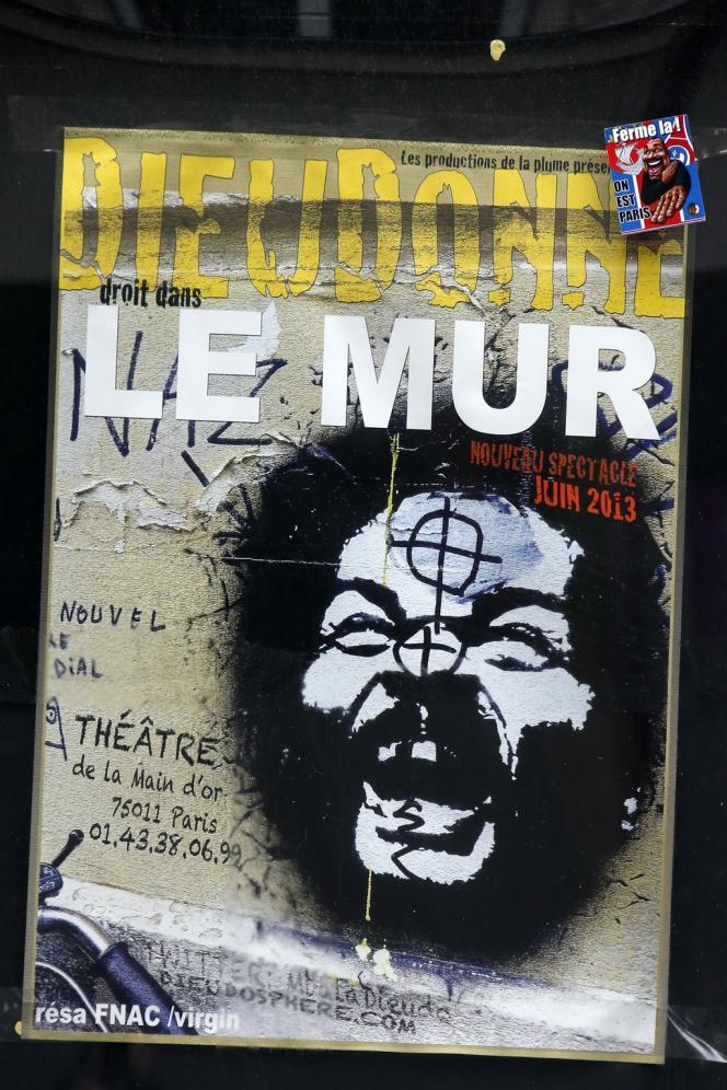 Une affiche du spectacle de Dieudonné