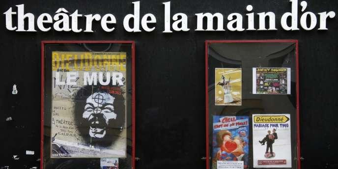 Affiche du spectacle de Dieudonné au théâtre de La Main d'or à Paris, le 30 décembre 2013.