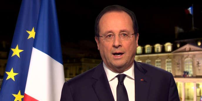François Hollande lors de ses vœux télévisés, le 31 décembre 2013.
