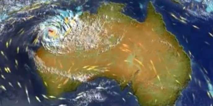 Christine est un cyclone de catégorie 3 sur une échelle de 5 niveaux.