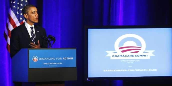 Discours du président Barack Obama sur la réforme du système de santé, le 4 novembre dernier à Washington.