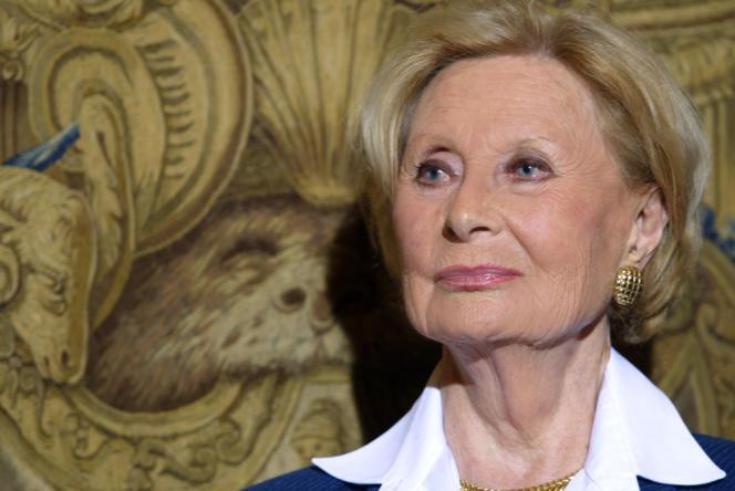 La comédienne Michèle Morgan, le 30 septembre 2004 à Paris.