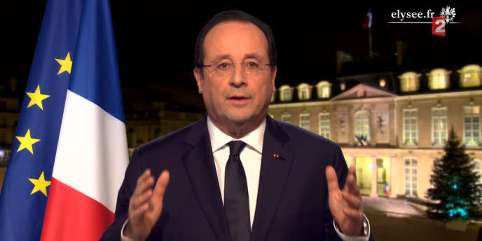 Les voeux de François Hollande sur France 2, le 31 décembre 2013.