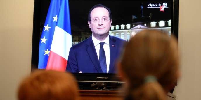 Vœux de François Hollande le 31 décembre sur France 2.