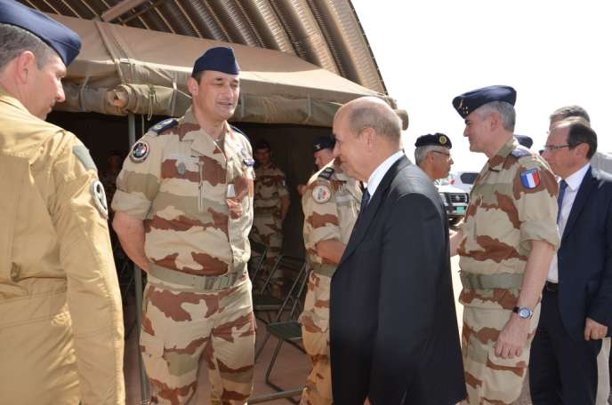 Jean-Yves Le Drian, le 1er janvier à Niamey.