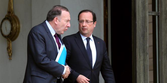 Le président du Medef, Pierre Gattaz, et le président de la République, François Hollande, à l'Elysée, le 4 juillet 2013.