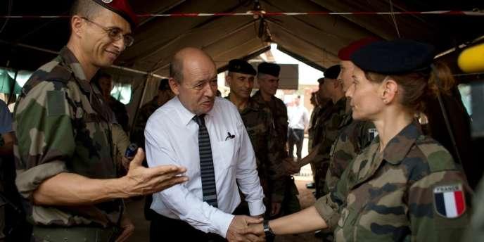 Le ministre de la défense Jean-Yves Le Drian a affirmé à Bangui qu'« assurer la sécurité en Afrique, c'est aussi assurer la sécurité en France ».