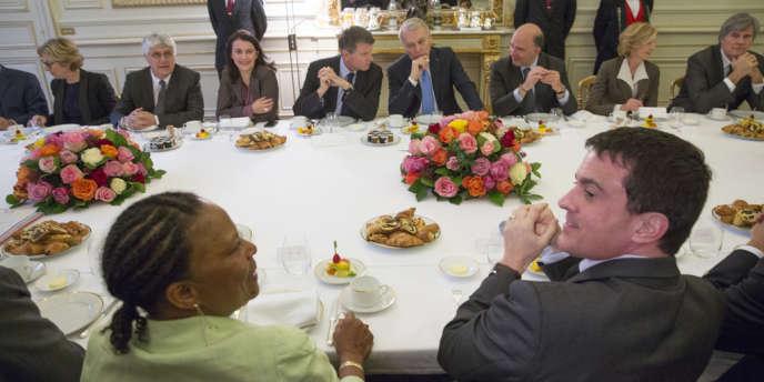 Petit-déjeuner au ministère de l'intérieur, vendredi 03 janvier 2014.