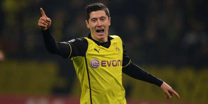 Robert Lewandowski sous le maillot du Borussia Dortmund face à Naples en Ligue des champions, le 26 novembre.