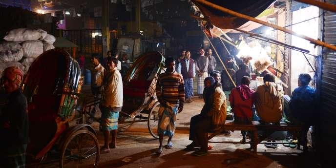 Dans un quartier de la vieille ville de Dacca, le 3 janvier.